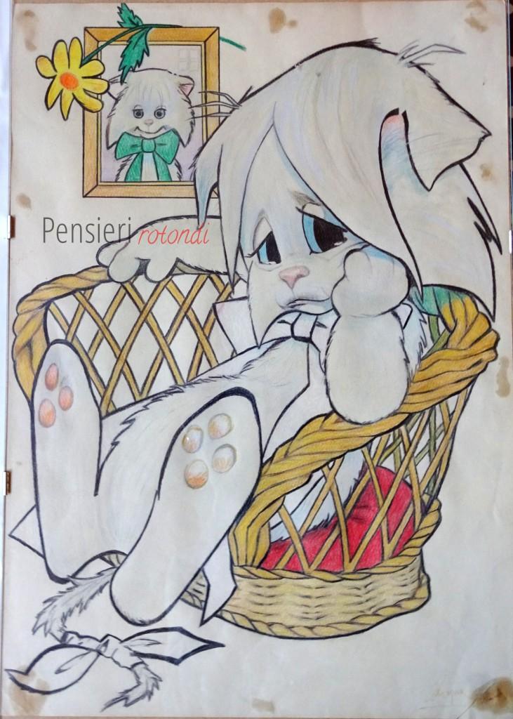 Ho fatto questo disegno da ragazzina, per mio fratello. Poi me lo sono ripresa ;-) Mi fa una tenerezza immensa...